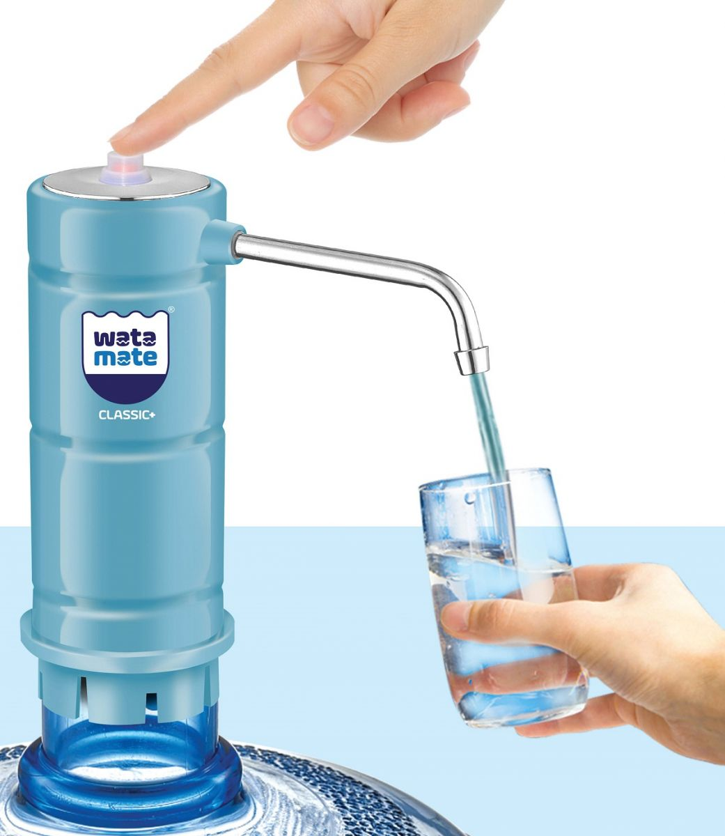 Watamate Classic+, Rechargeable Water Dispenser Pump - Blue